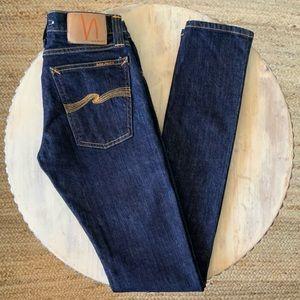 Nudie Jeans Co Skinny Lin Dry Deep Orange